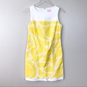 Lilly Pulitzer Yellow Sun Print Shift Dress